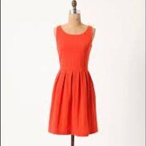 Deletta orange dress from Anthropologie, size XS